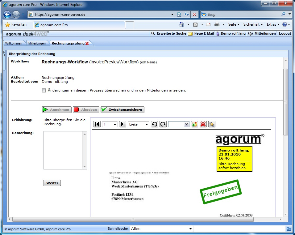 produkt bersicht dokumentenmanagement agorum core. Black Bedroom Furniture Sets. Home Design Ideas