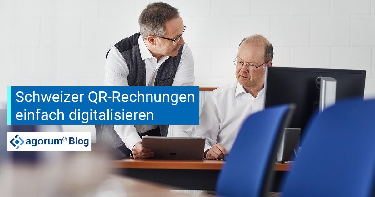 QR-Rechnungen digitalisieren Schweiz NOVISTA
