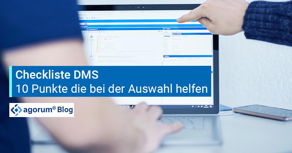 Checkliste Dokumentenmanagement - 10 Punkte, die bei der DMS Auswahl helfen