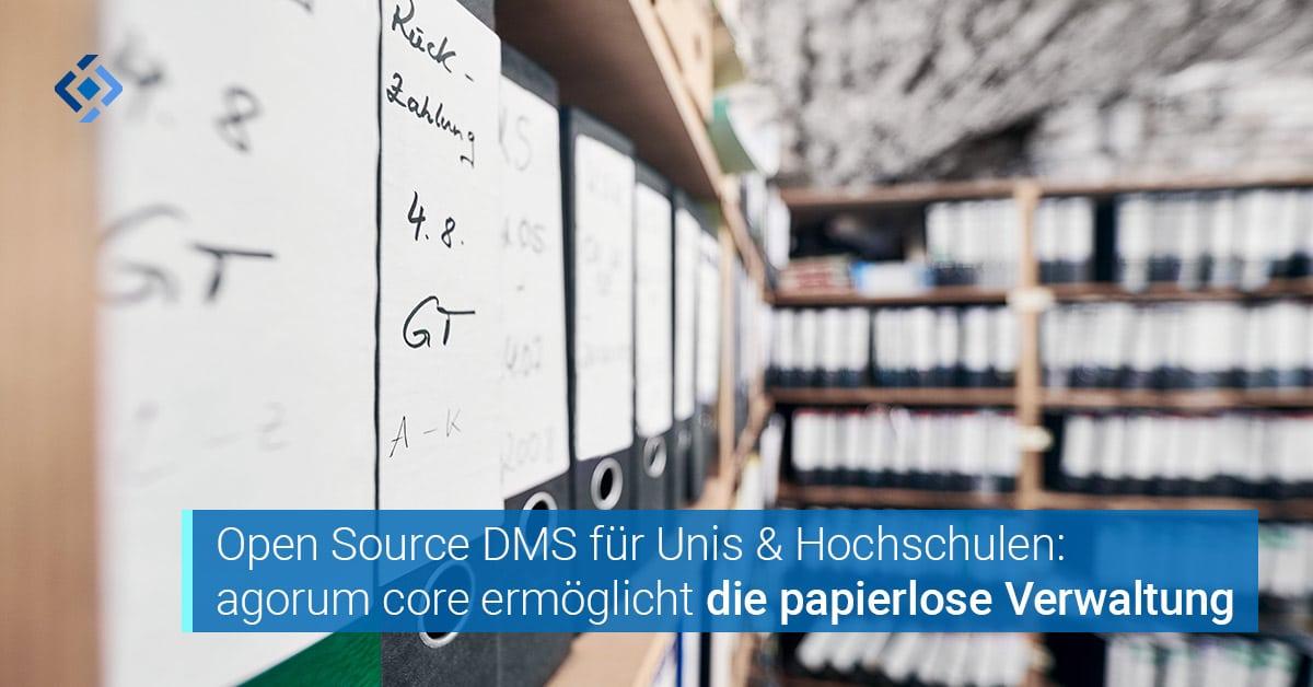 Open Source DMS Software für Universitäten und Fachhochschulen